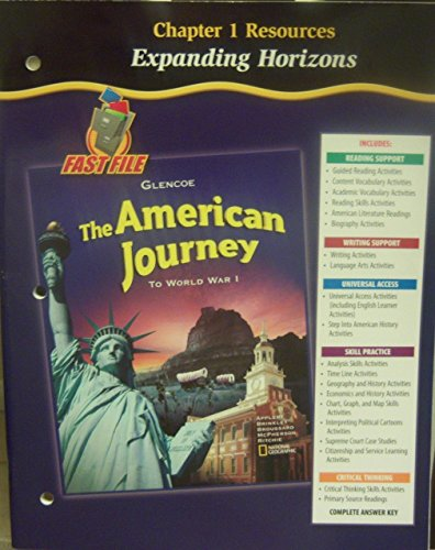 9780078704024: The American Journey to World War I: Chapter 1 Resources (Expanding Horizons)