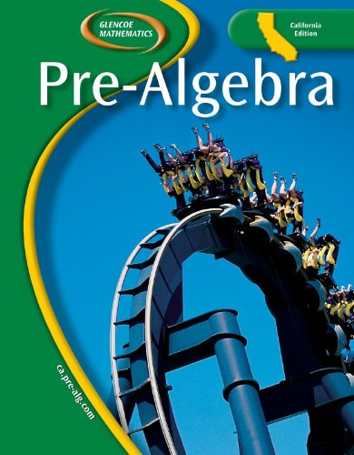 9780078704246: Glencoe Pre-Algebra California Student Edition 2006