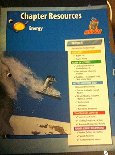 9780078725265: Science Fast File Chapter Resources Energy