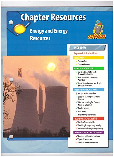 9780078725784: Chapter Resources: Energy and Energy Resources (GLENCOE SCIENCE FAST FILE)