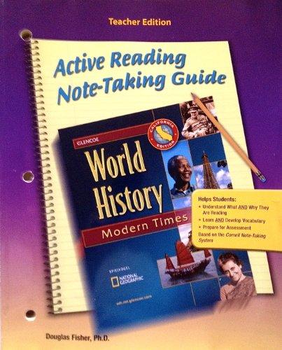 9780078726835: Glencoe World History - Teacher's California Edition: Modern Times Note Taking Guide