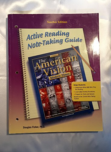 9780078727658: The American Vision - Teacher's Edition: Modern Times Note Taking Guide