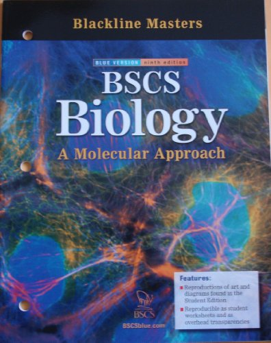9780078729201: Blackline Masters for BSCS Biology: A Molecular Approach (Blue Version, Ninth Edition)