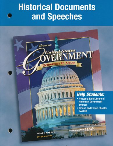 9780078730733: Historical Documents and Speeches (United States Government, Democracy in Action)