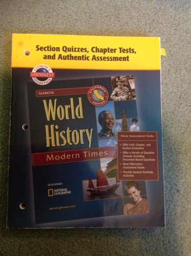 9780078730832: Section Quizzes, Chapter Tests, and Authentic Assessment World History Modern Times