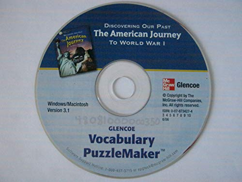 Vocabulary PuzzleMaker: Discovering Our Past: The American Journey to World War I (0078734274) by Glencoe