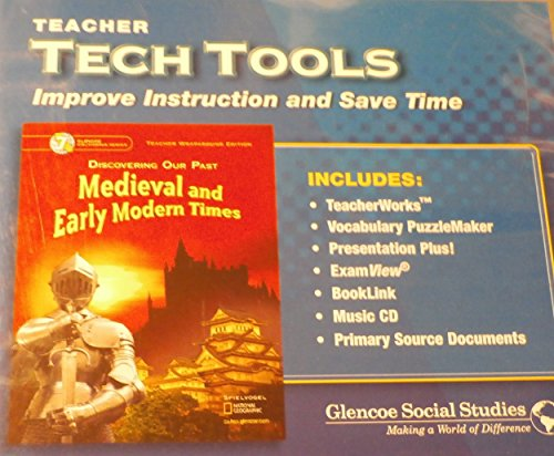 9780078737572: Medieval and Early Modern Times Grade 7 Teacher Tech Tools CD-ROM set (California Edition)