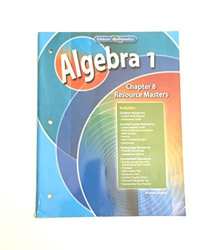 9780078739514: Algebra 1, Chapter 8 Resource Masters (Glencoe Mathematics)