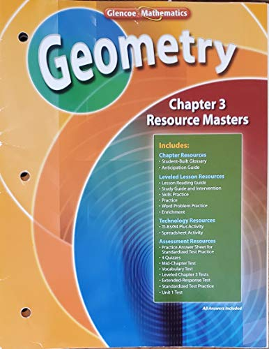 9780078739606: Geometry Chapter 3 Resource Masters