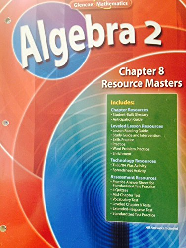 9780078739781: Algebra 2 Chapter 8 Resource Masters (Glencoe Mathematics)