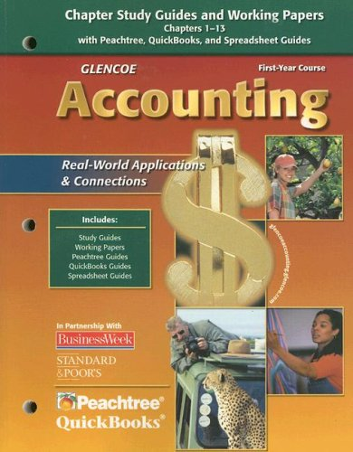 9780078739873: Glencoe Accounting: First Year Course, Chapters 1-13, Working Papers (GUERRIERI: HS ACCTG)