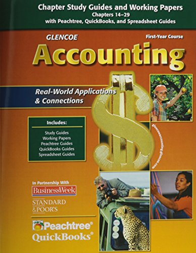 9780078739880: Glencoe Accounting: First Year Course, Chapters 14-29, Working Papers