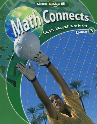 9780078740503: Math Connects: Concepts, Skills, and Problem Solving Course 3 (Math Connects: Course 3)