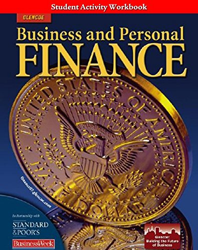 9780078741210: Business and Personal Finance, Student Activity Workbook (PERSONAL FINANCE (RECORDKEEP))