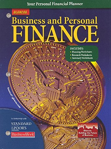 Business and Personal Finance: Personal Financial Planner provides real-world forms and worksheets ...