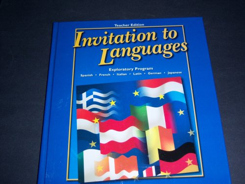 9780078742507: Invitation to Languages; Exploratory Program TEACHER EDITION (Hardcover)