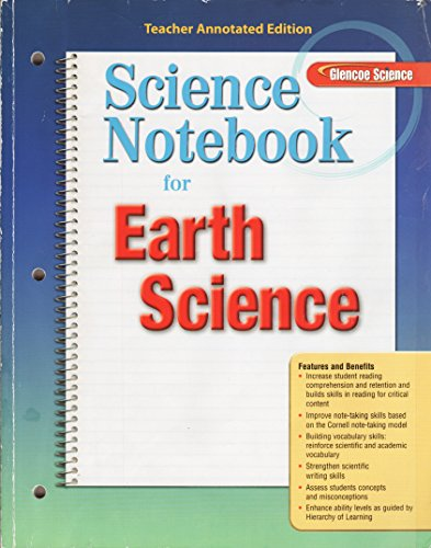 9780078745706: Glencoe Science, Earth Science: Science Notebook (Teacher Annotated Edition)