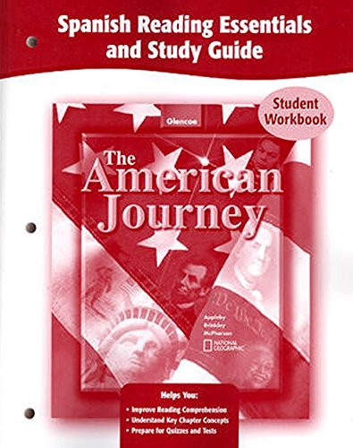 9780078752629: The American Journey, Spanish Reading Essentials and Study Guide, Workbook (Spanish Edition)