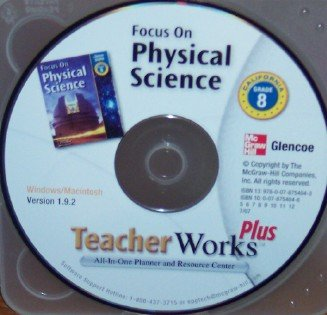 9780078754043: Teacher Works Plus Grade 8 (Focus on Physical Science)