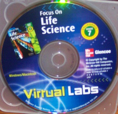 9780078754098: Virtual Labs: Focus on Life Science, Grade 7 (California Science)