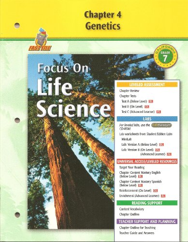 9780078754470: Focus on Life Science Chapter 4 Genetics Fast File (GR 7)