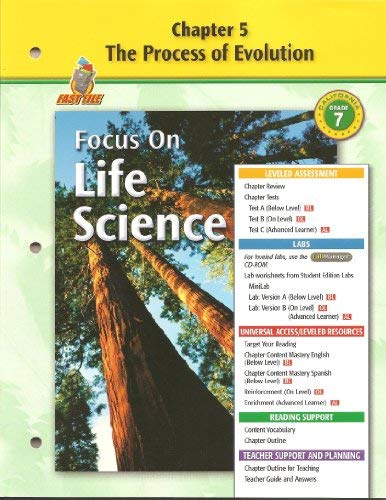 9780078754487: Focus on Life Science Chapter 5 The Process of Evolution Fast File (GR 7)