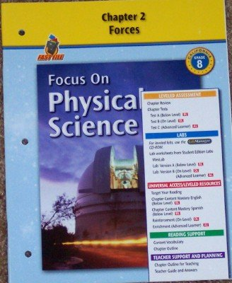 9780078754586: Focus on Physical Science: Chapter 2; Forces Grade 8 (California)