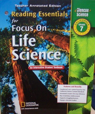 9780078754722: Reading Essentials for Foucus on Life Science Grade 7 (Teacher Annotated Edition)