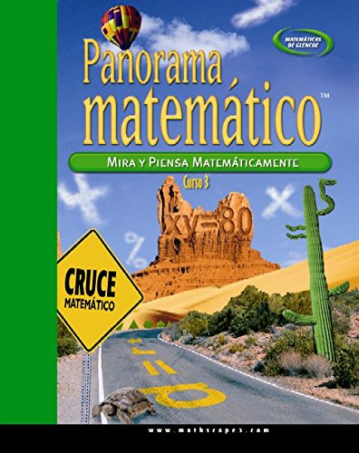 9780078756375: Panorama Matematico: Mira y Piensa Matematicamente, Curso 3 (Matematicas de Glencoe)
