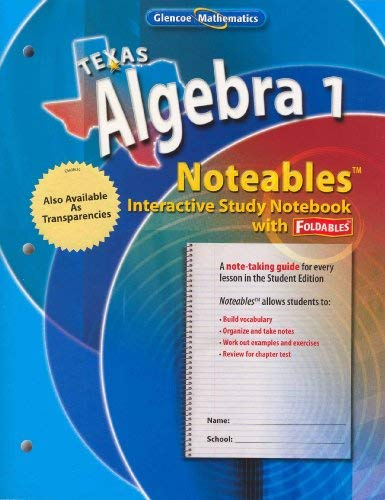 9780078756931: Texas Algebra 1 Noteables: Interactive Study with Foldables