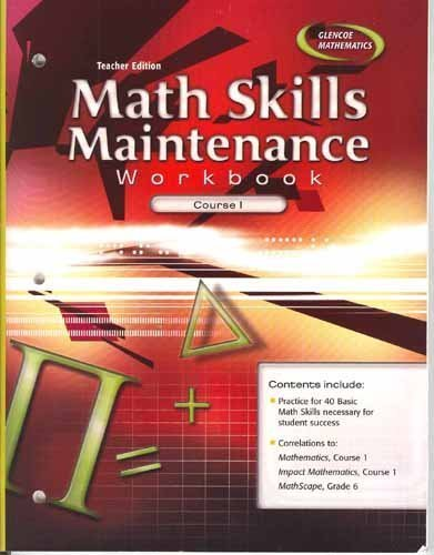 9780078760907: Math Skills Maintenance Workbook: Course 1, Teacher Edition