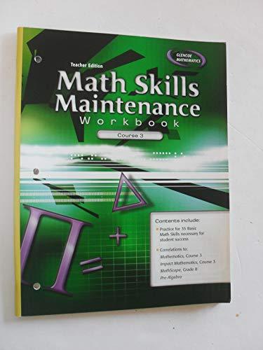 9780078760945: Teacher Edition Math Skills Maintenance Workbook Course 3