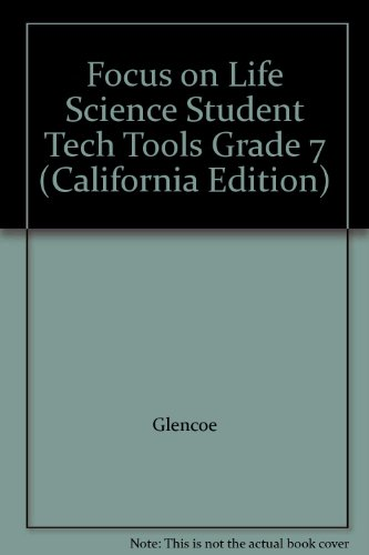 9780078761379: Focus on Life Science Student Tech Tools Grade 7 (California Edition)