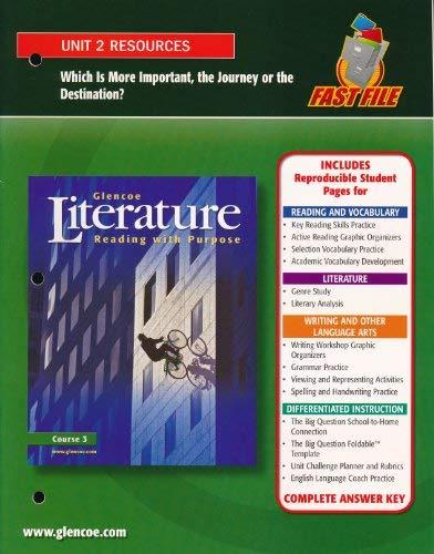 9780078761812: Glencoe Literature Unit 2 Resources Course 3 (Paperback)