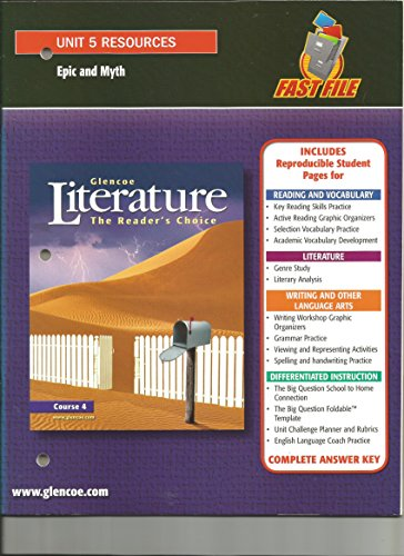 9780078761928: Glencoe Literature The Reader's Choice, Course 4: Unit 5 Resources (Epic and Myth)