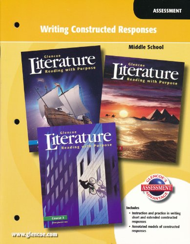9780078762208: Glencoe Literature Middle School Writing Constructed Responses Assessment. (Paperback)