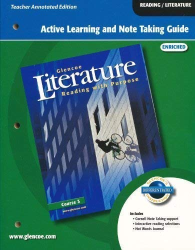9780078763786: Glencoe LITERATURE: Reading with Purpose: Course 3: Active Learning and Note Taking Guide: ENRICHED: TAE