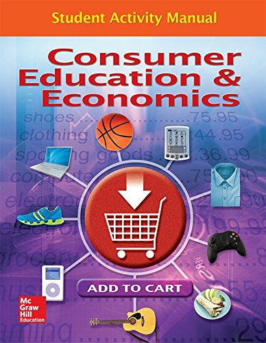9780078767821: Consumer Education And Economics, Student Activity Manual (CONSUMER EDUCATION & ECONOMICS)