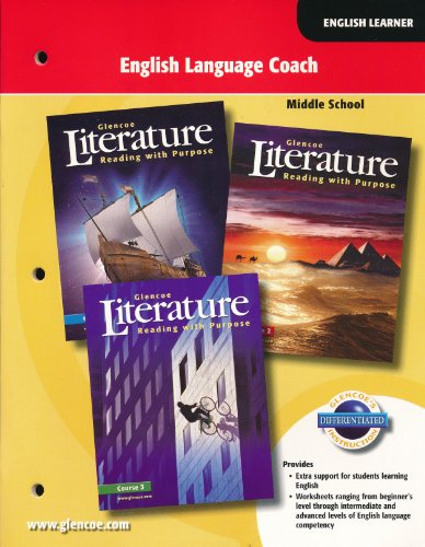 9780078768781: English Language Coach: Glencoe Reading with Purpose (Middle School; 2007)