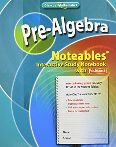 9780078772108: Pre-Algebra, Noteables: Interactive Study Notebook with Foldables