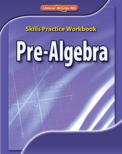 9780078772160: Pre-Algebra, Skills Practice Workbook,  97 worksheets (Glencoe Mathematics)