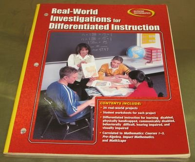 9780078773198: Glencoe Mathematics Course 1-3 Real World Investigations for Differentiated Instruction