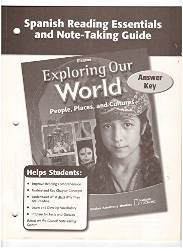 9780078776144: Spanish Reading Essentials and Note-Taking Guide Answer Key (Glencoe Exploring Our World People, Places, and Cultures)