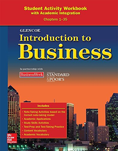 9780078776953: Glencoe Introduction to Business Student Activity Workbook: With Academic Integration Chapters 1-35