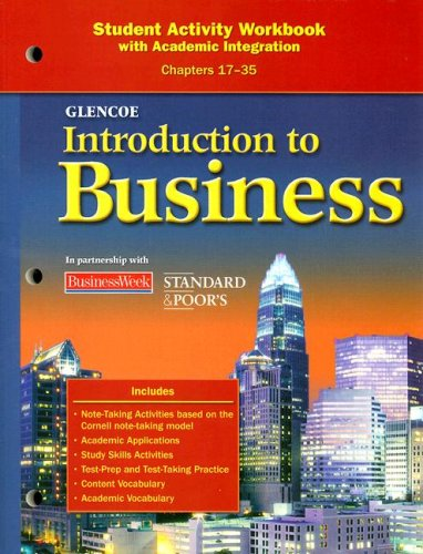 9780078776977: Introduction To Business, Chapters 17-35, Student Activity Workbook