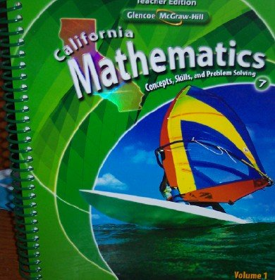9780078778513: California Mathematics Teacher Edition Grade 7 (Concepts, Skills, and Problem Solving, Volume 1)