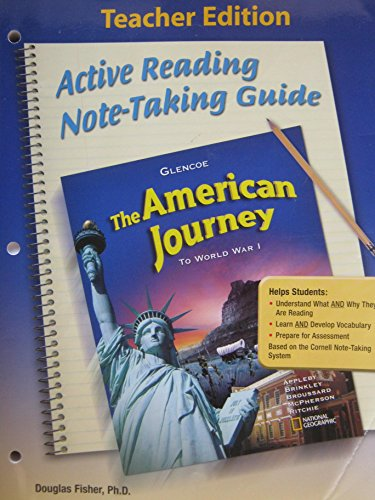 9780078779213: Glencoe Discovering Our Past - the American Journey to World War I, Grade 8 - Ca Teacher Edition: Active Reading Note-taking Guide