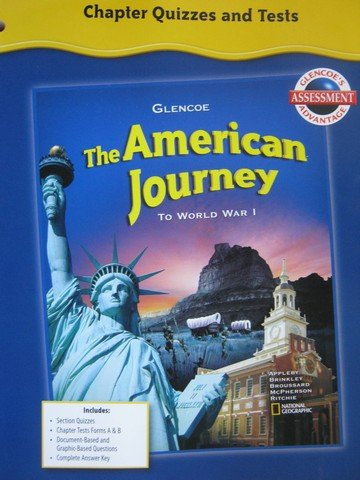 9780078779251: American Journey Chapter Quizzes & Tests (P)
