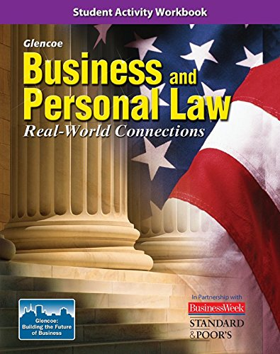 9780078779442: Business and Personal Law: Real World Connections, Student Activity Workbook (BROWN: UNDER BUS & PERS LAW)