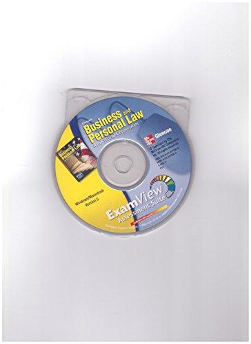 9780078779466: ExamView Assessment Suite CD-ROM (Glencoe Business and Personal Law Real-World Connections)